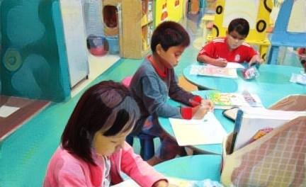 Ujian Saringan Tahun 1: Beberapa kanak-kanak belajar dalam kelas tuisyen.